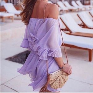 NWOT Endless Rose lilac dress seen on Revolve